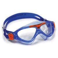 VISTA JUNIOR transparentes Glas Farbe blau/orange