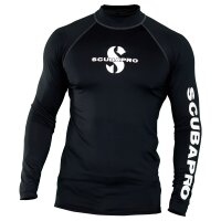 BLACK Rash Guard Langarm Herren UPF50